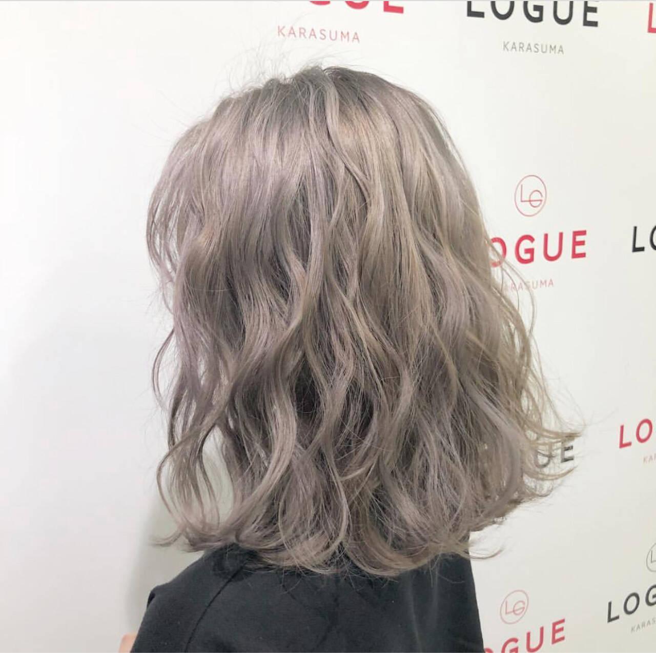 外国人風カラー ストリート ミディアム ハイライトヘアスタイルや髪型の写真・画像