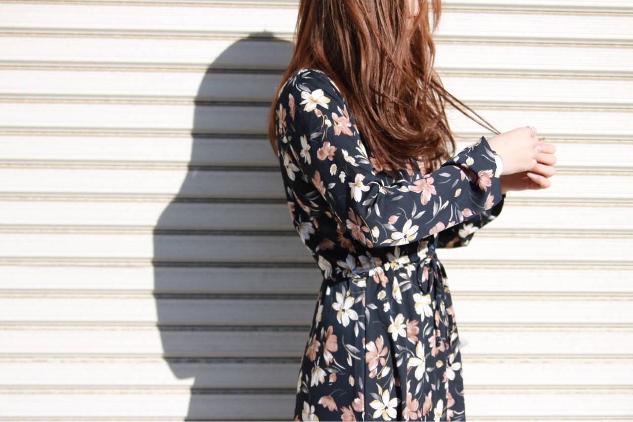 ヘアアレンジ かわいい ロング 花ヘアスタイルや髪型の写真・画像
