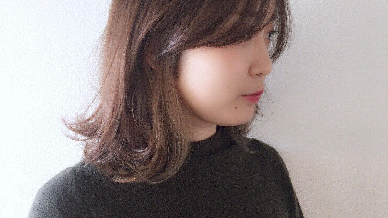 インナーカラー ナチュラル 透け感 抜け感ヘアスタイルや髪型の写真・画像