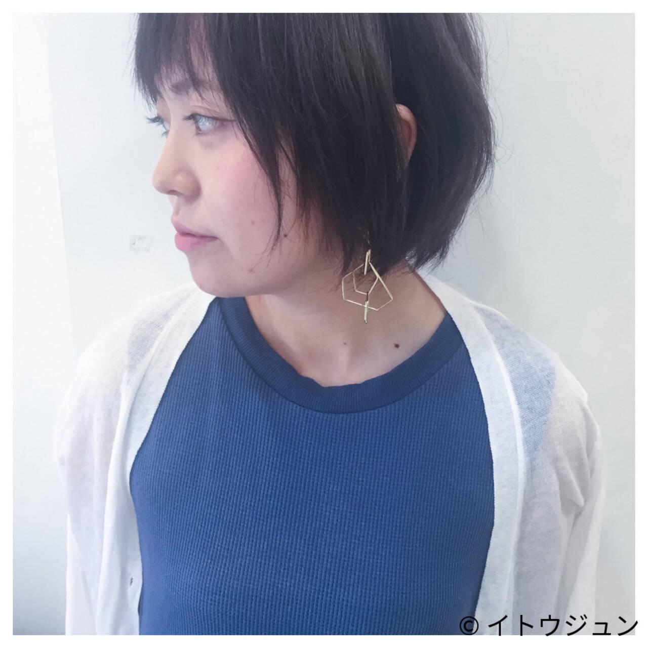 色気 ハイライト アッシュ 暗髪ヘアスタイルや髪型の写真・画像