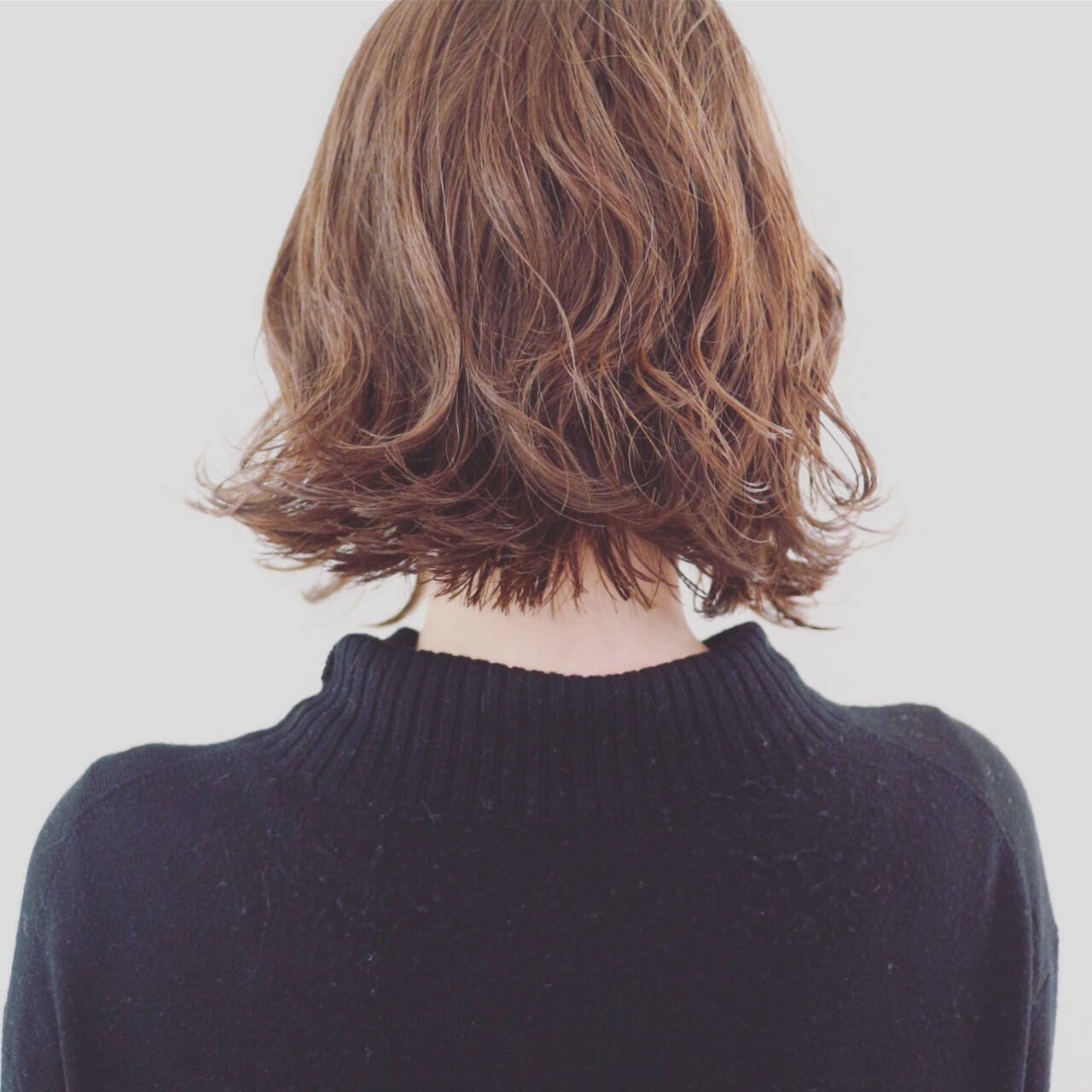 パーマ 外ハネ ボブ ストリートヘアスタイルや髪型の写真・画像