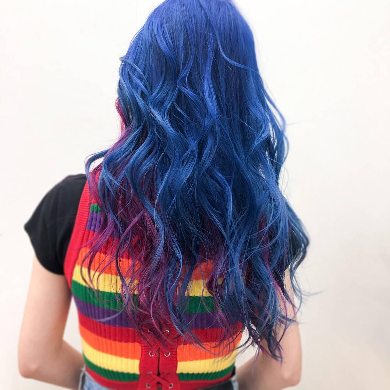 派手髪 ストリート ピンク ハイトーンカラーヘアスタイルや髪型の写真・画像