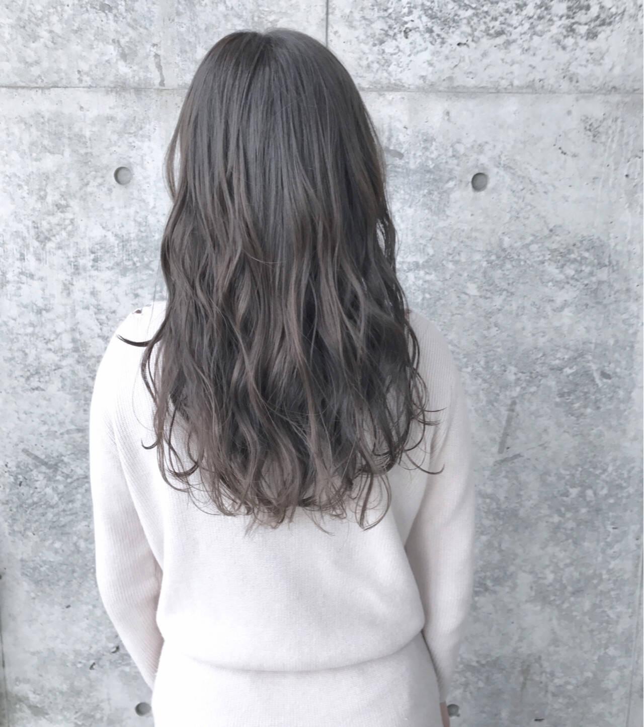 外国人風 グレージュ アッシュグレージュ 外国人風カラーヘアスタイルや髪型の写真・画像