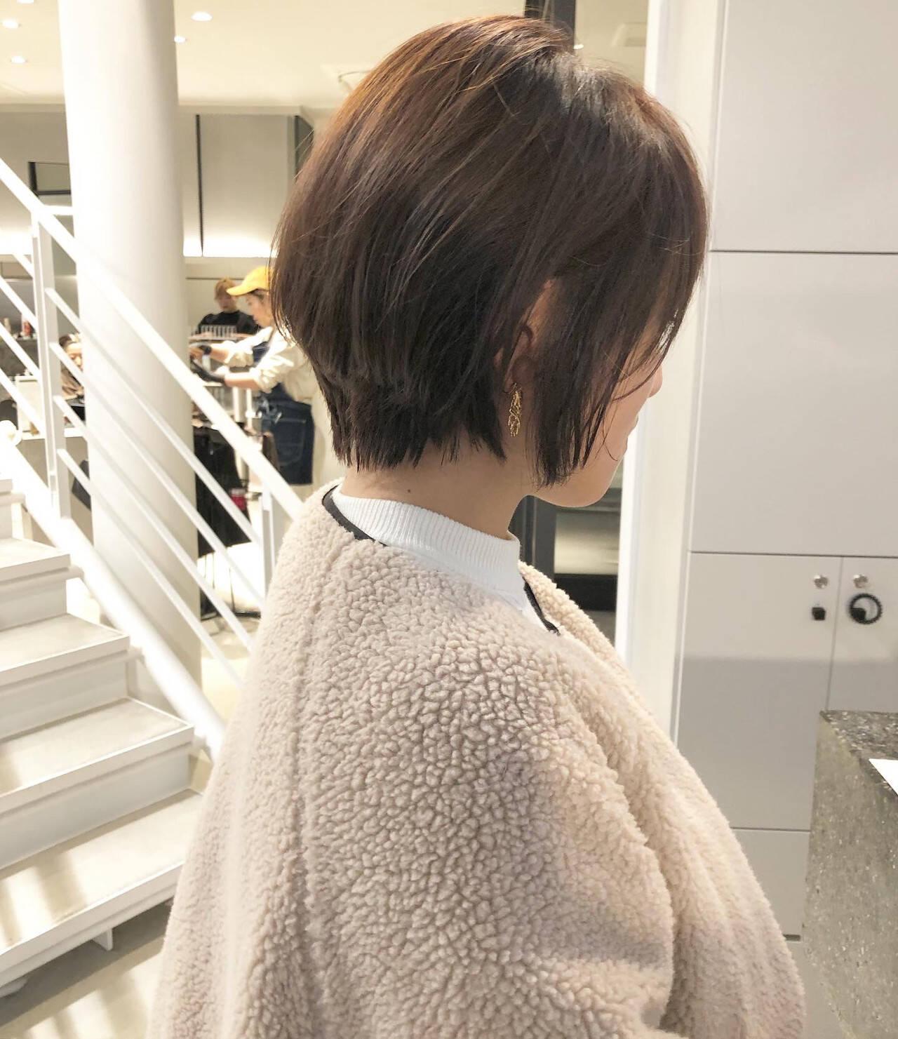 ベリーショート マッシュショート ハンサムショート ナチュラルヘアスタイルや髪型の写真・画像