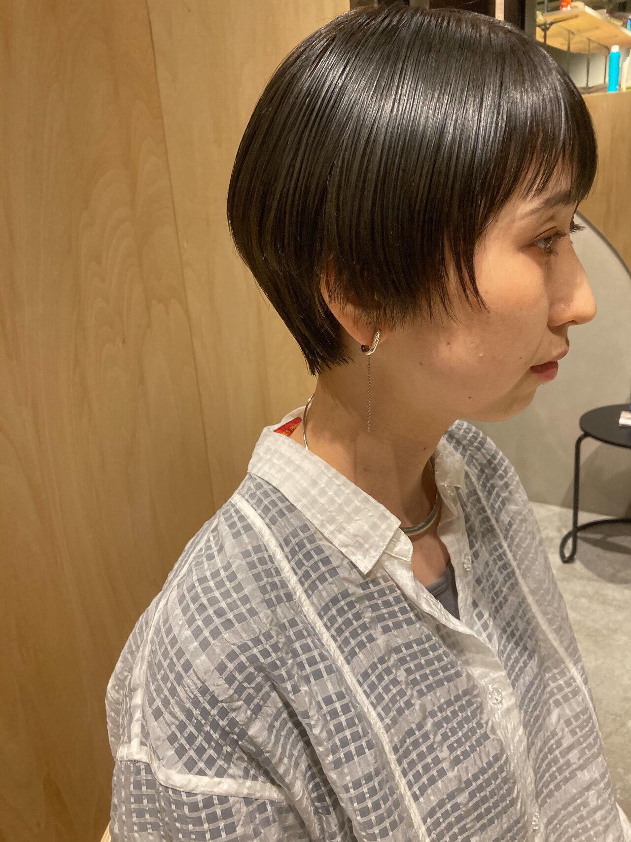 ショートボブ ベリーショート ハンサムショート ショートヘアスタイルや髪型の写真・画像