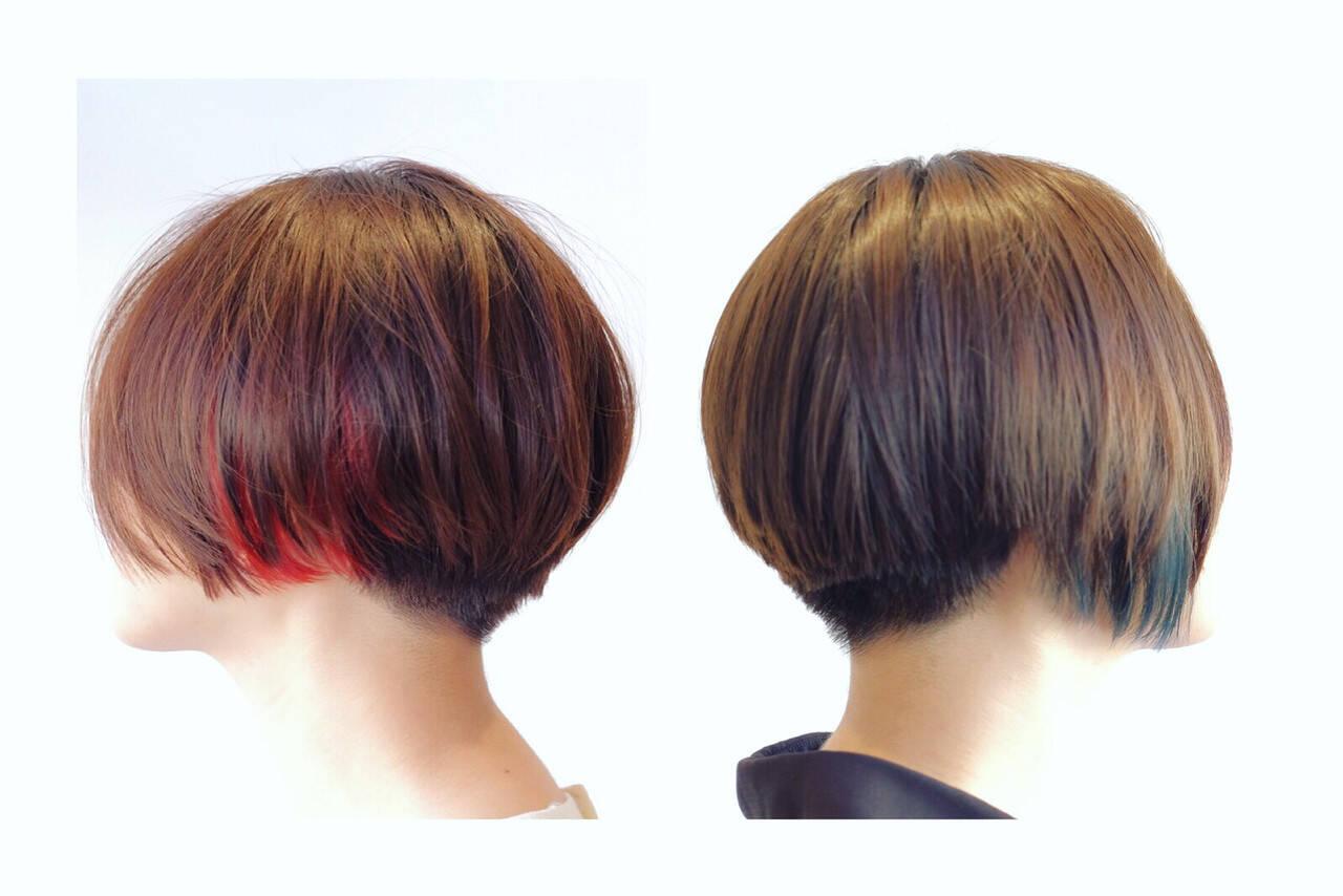 刈り上げ 小顔 坊主 ショートヘアスタイルや髪型の写真・画像