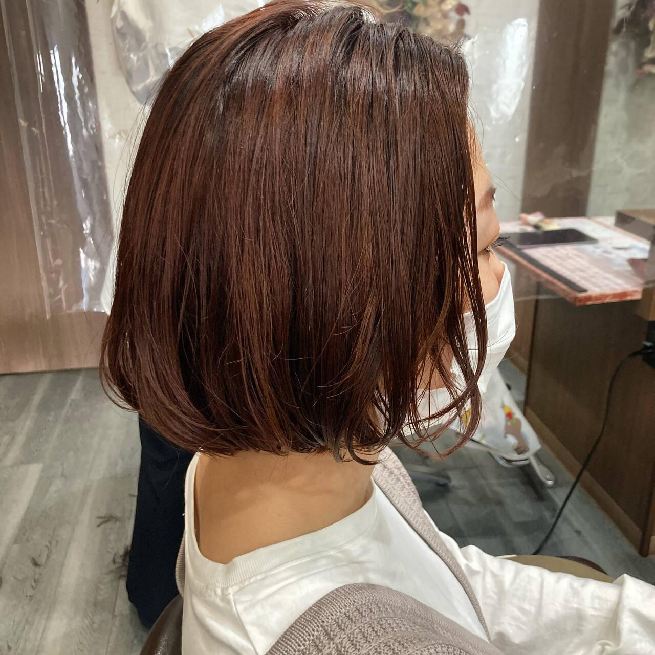 切りっぱなしボブ タンバルモリ ボブ 韓国ヘアヘアスタイルや髪型の写真・画像