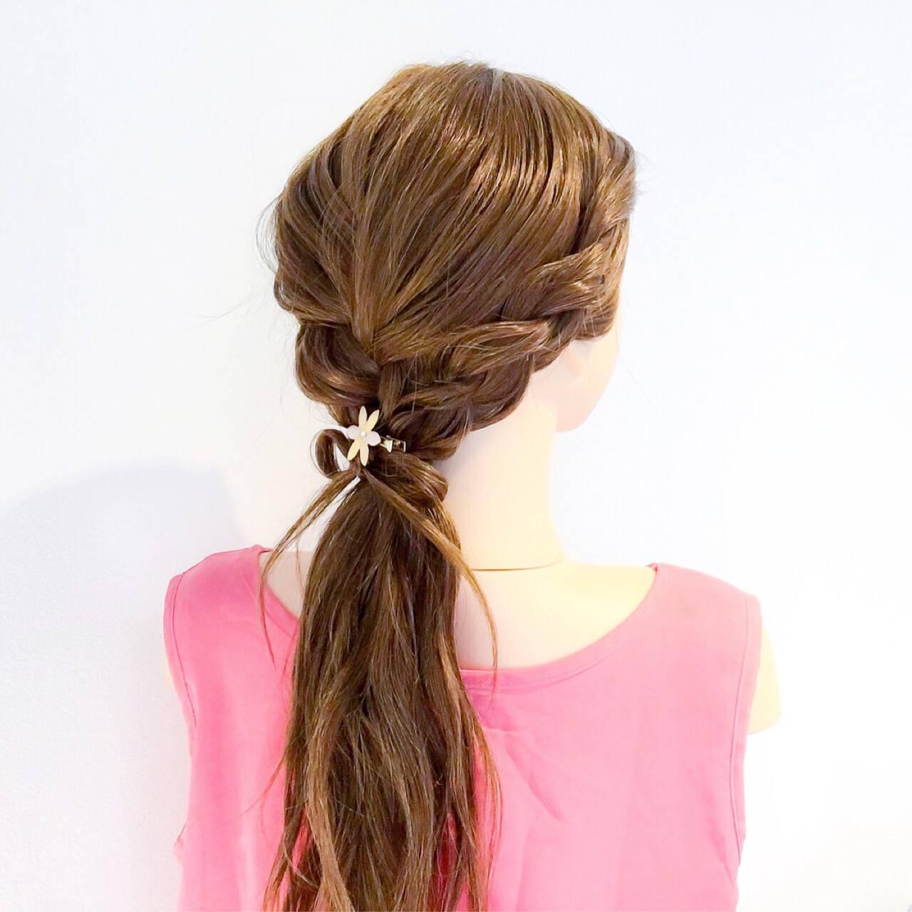 ヘアアレンジ 簡単ヘアアレンジ ロング 上品ヘアスタイルや髪型の写真・画像