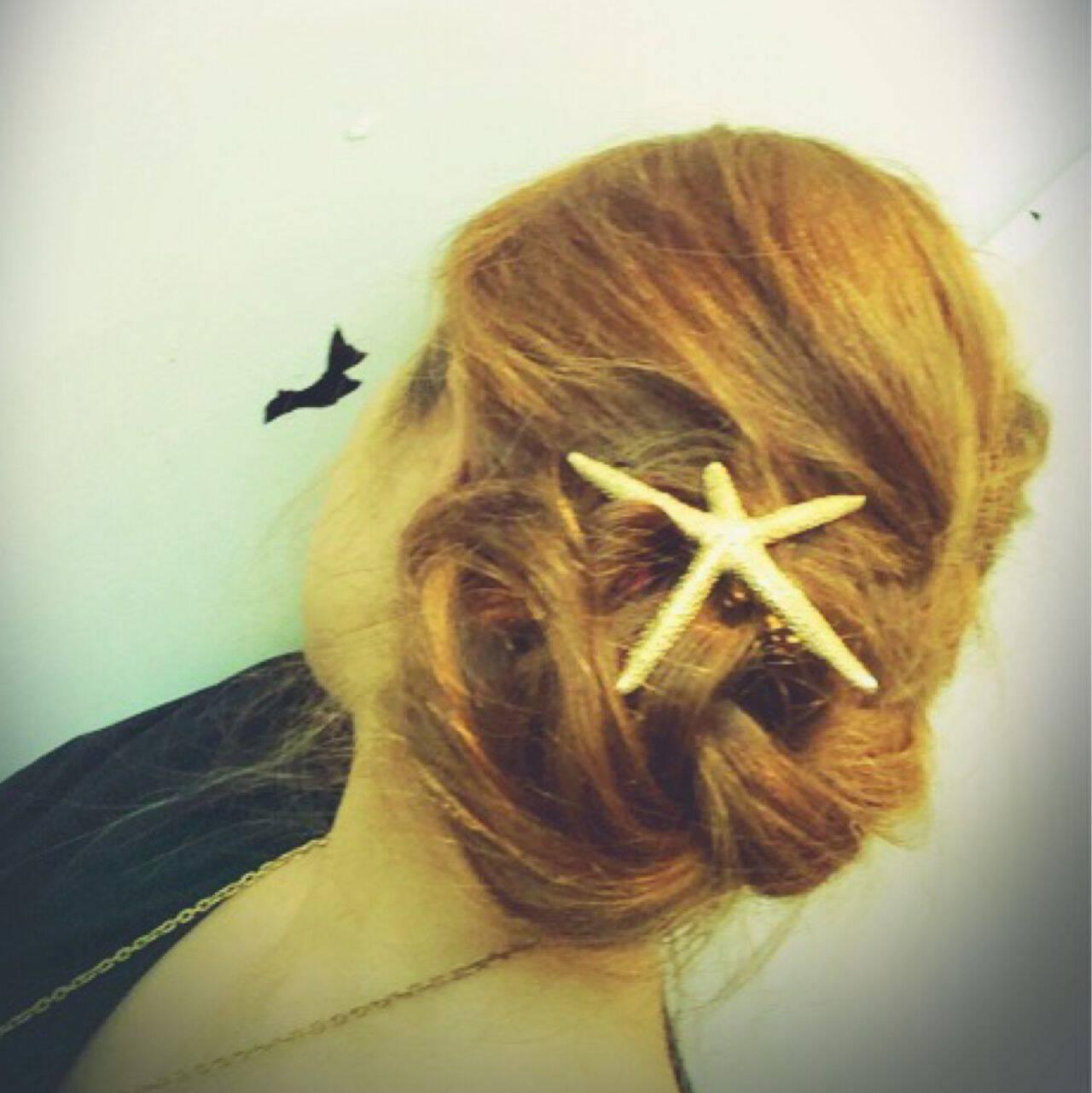 ロング ショート ヘアアレンジ 簡単ヘアアレンジヘアスタイルや髪型の写真・画像