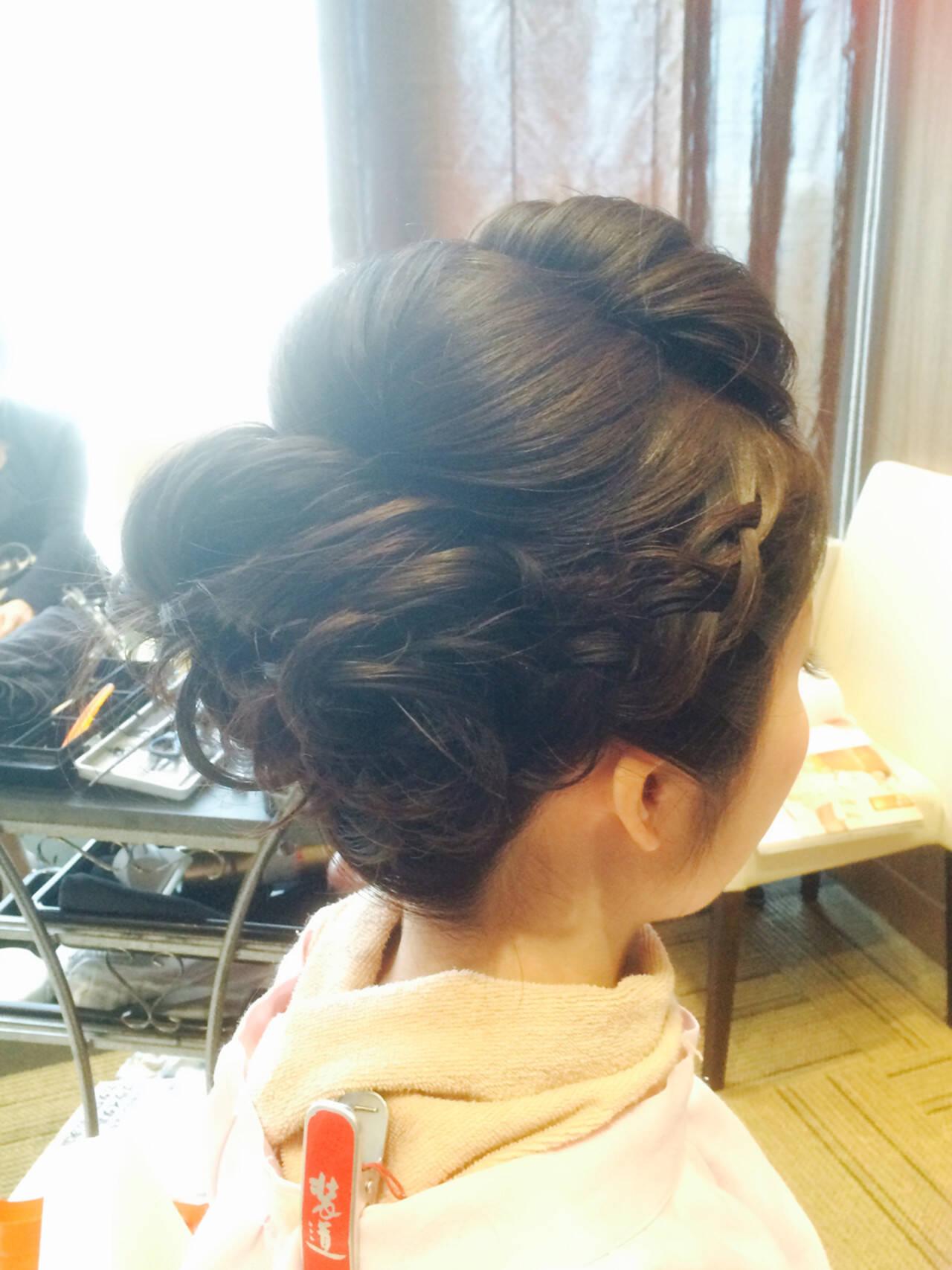 ヘアアレンジ 編み込み ロング ブライダルヘアスタイルや髪型の写真・画像