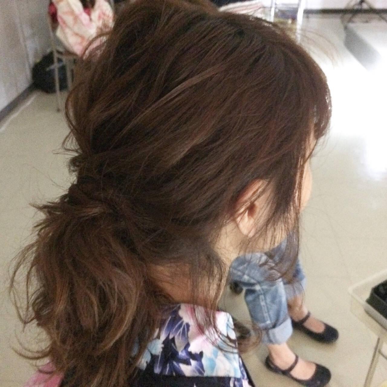 ヘアアレンジ セミロング ハーフアップ 大人女子ヘアスタイルや髪型の写真・画像