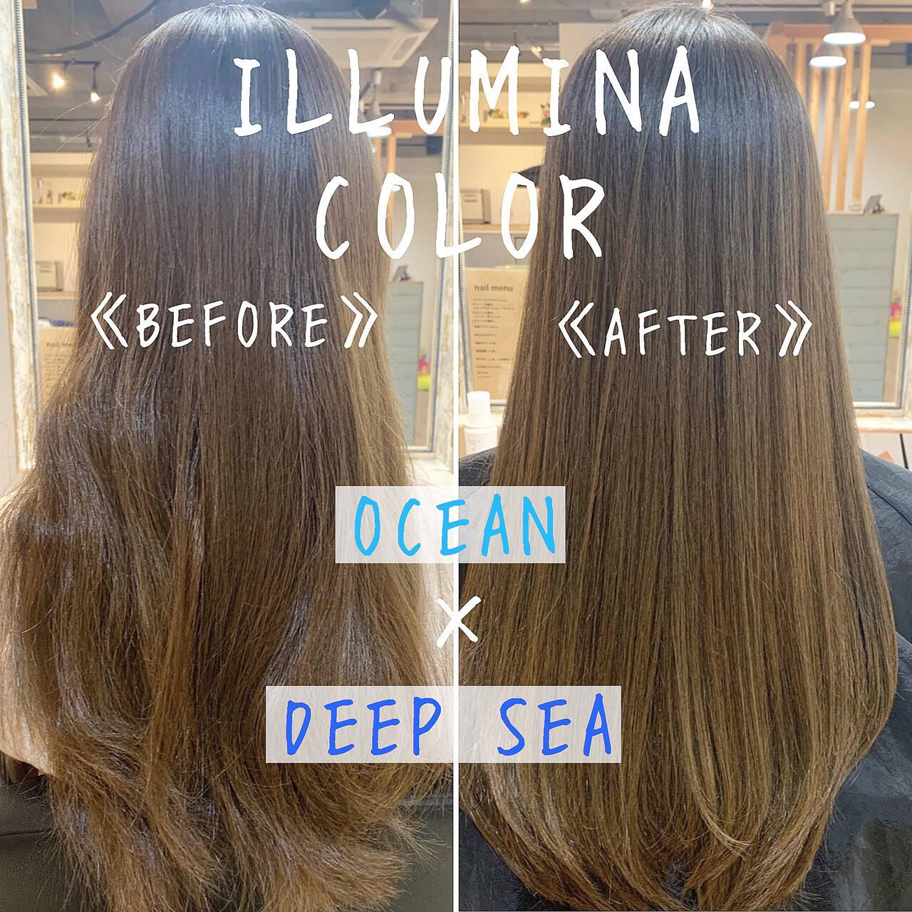 外国人風カラー エレガント モテ髪 ヘアカラーヘアスタイルや髪型の写真・画像