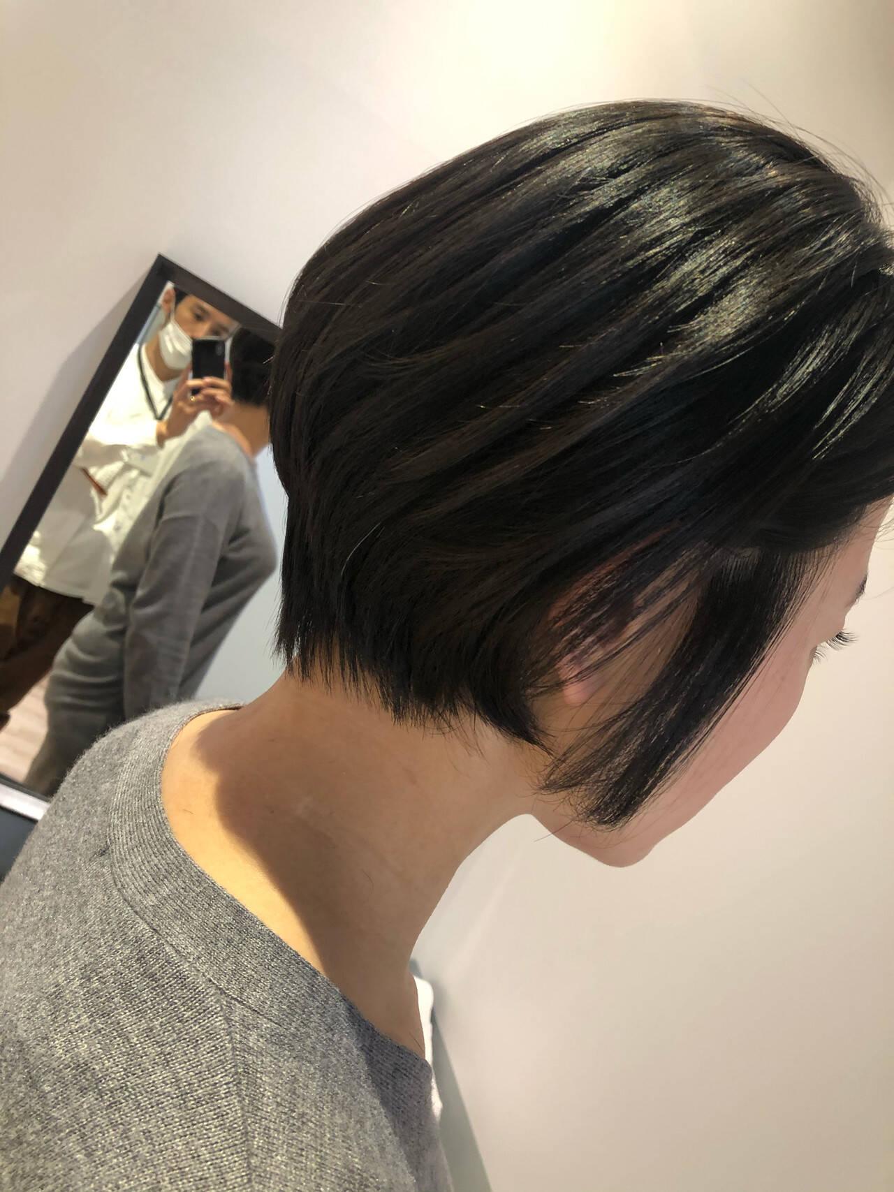 ショートヘア ショート ショートボブ 髪質改善トリートメントヘアスタイルや髪型の写真・画像