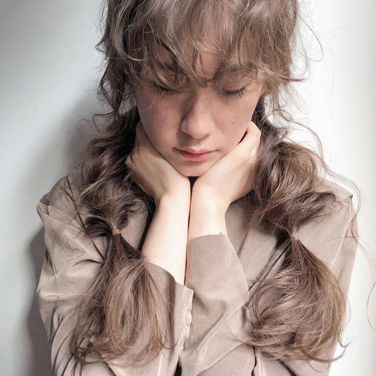 ガーリー 簡単ヘアアレンジ 大人かわいい ロングヘアスタイルや髪型の写真・画像