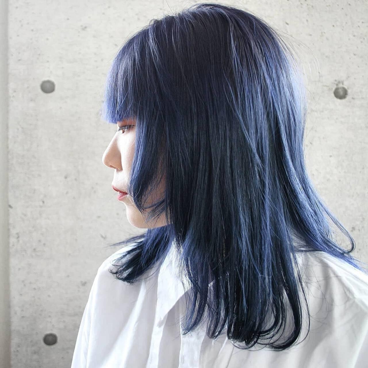 モード ハイトーンカラー ブリーチカラー 透明感カラーヘアスタイルや髪型の写真・画像