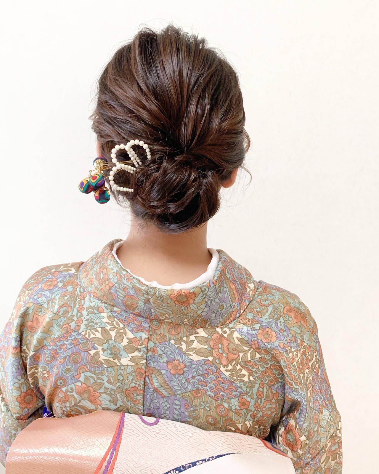 エレガント パーティー お呼ばれ ミディアムヘアスタイルや髪型の写真・画像
