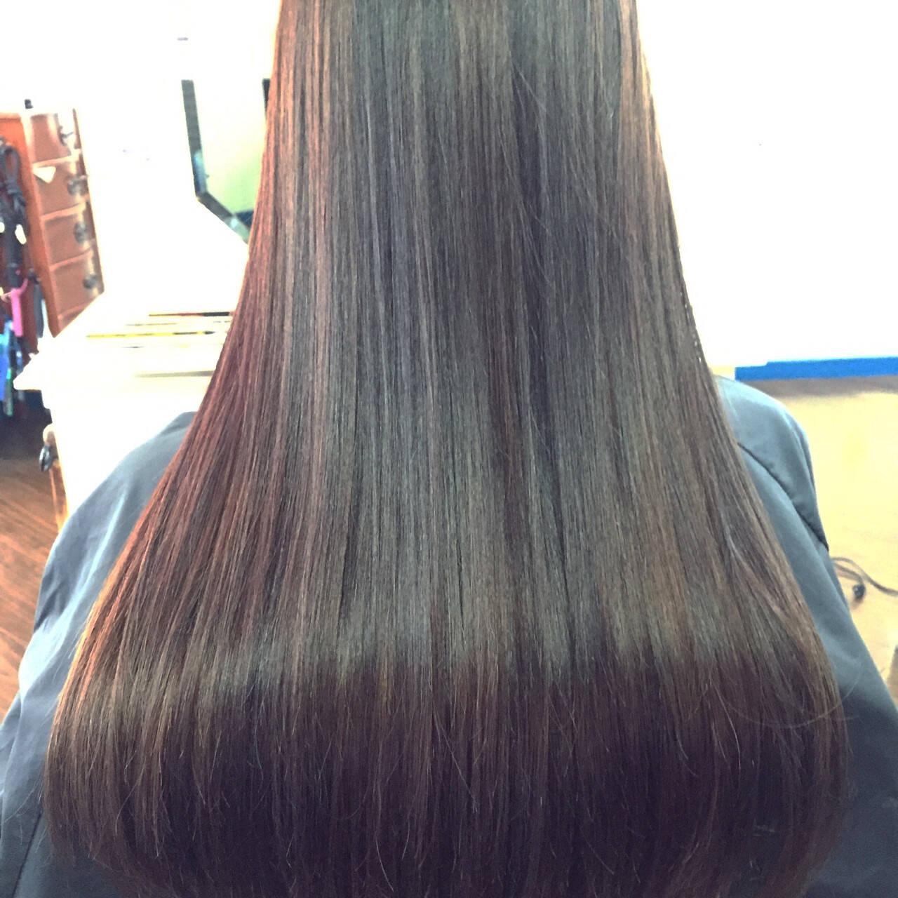 ブラウン グラデーションカラー ロング 外国人風ヘアスタイルや髪型の写真・画像