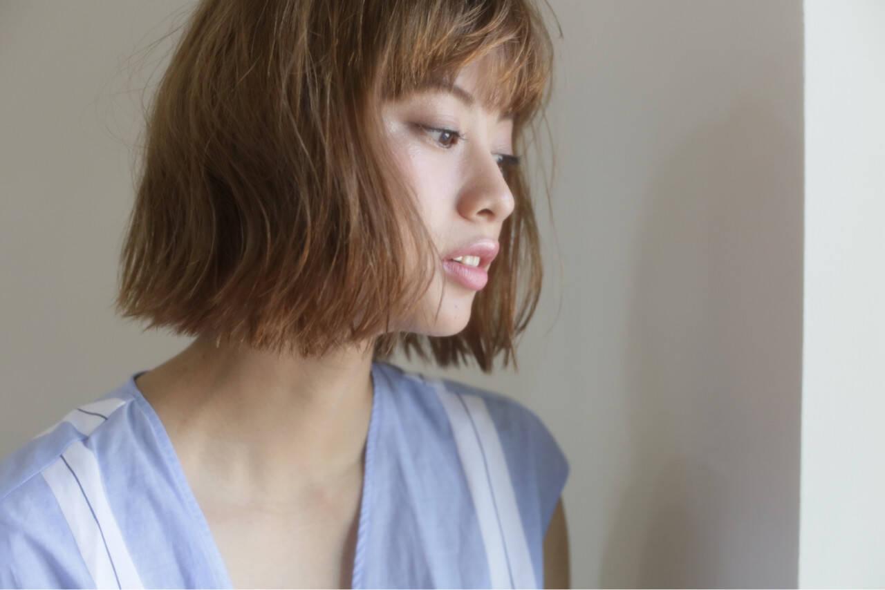 大人女子 こなれ感 ハイライト ナチュラルヘアスタイルや髪型の写真・画像