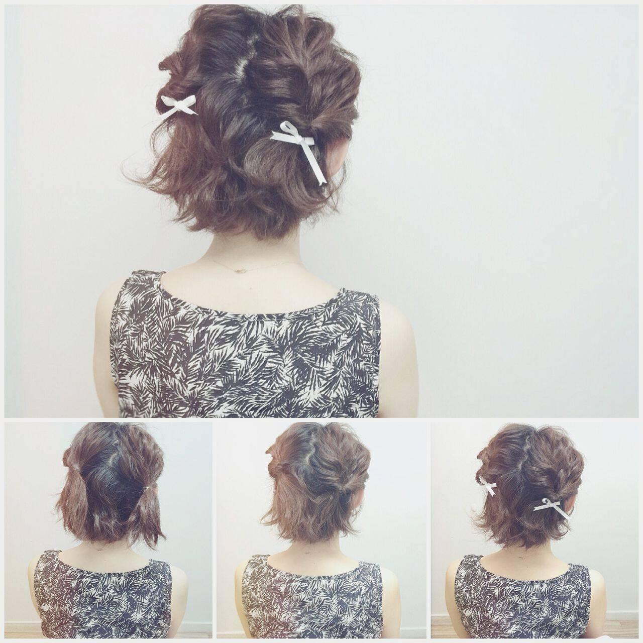 ナチュラル アップスタイル ヘアアレンジヘアスタイルや髪型の写真・画像