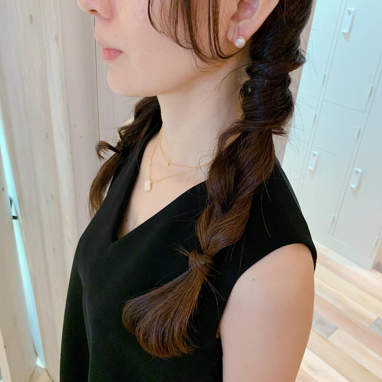 モード ロング 大人女子 結婚式ヘアアレンジヘアスタイルや髪型の写真・画像