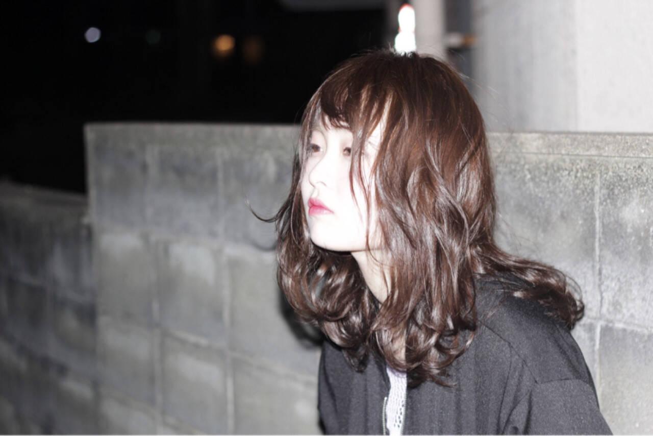 ミディアム ガーリー 外国人風 ストリートヘアスタイルや髪型の写真・画像