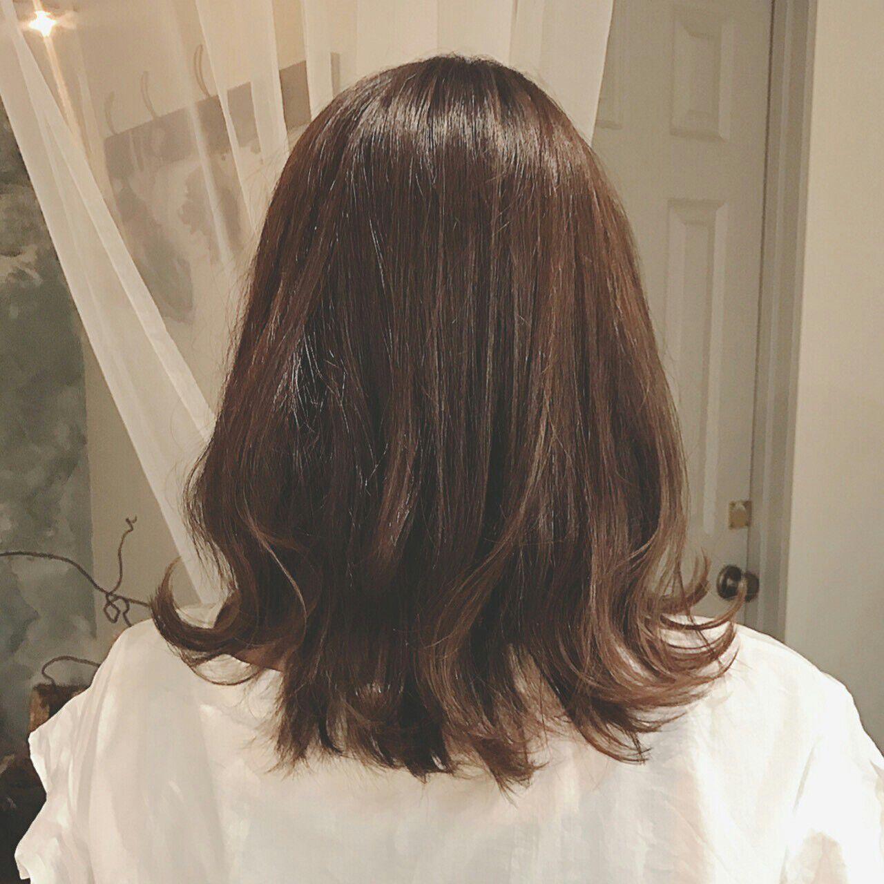 エレガント ボブ 透明感 インナーカラーヘアスタイルや髪型の写真・画像