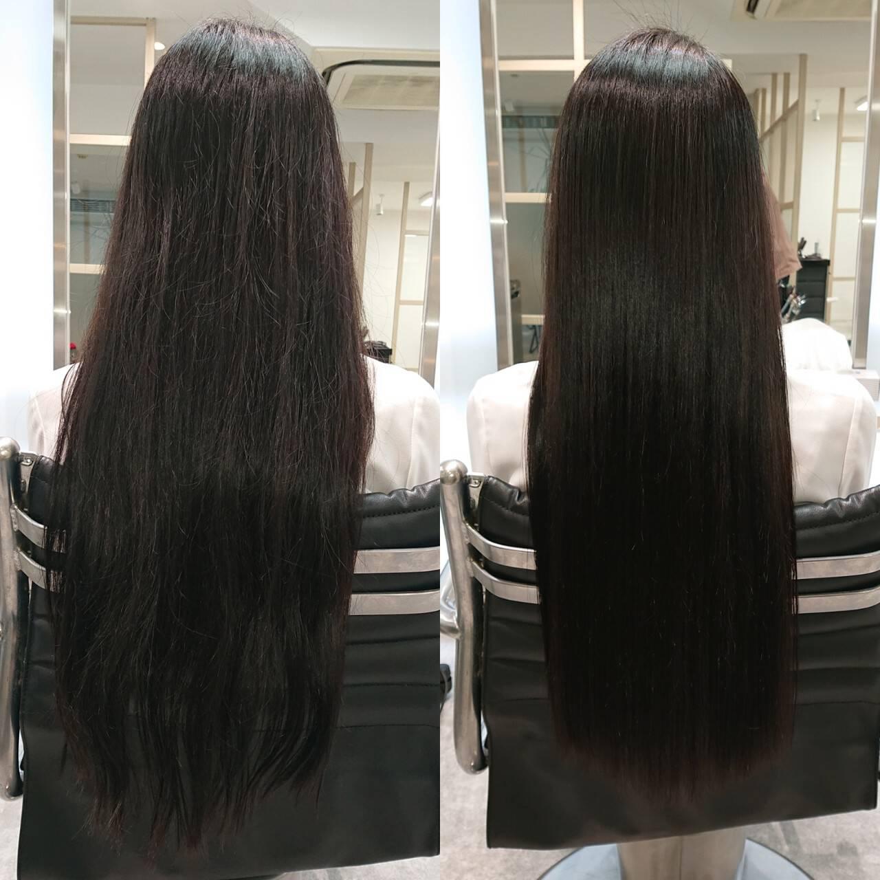ナチュラル 美髪 艶髪 髪質改善ヘアスタイルや髪型の写真・画像
