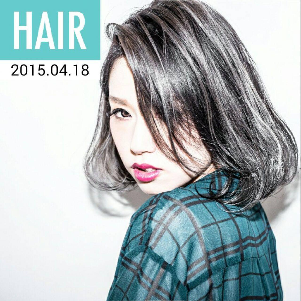 ストリート 外国人風 ボブ パンクヘアスタイルや髪型の写真・画像