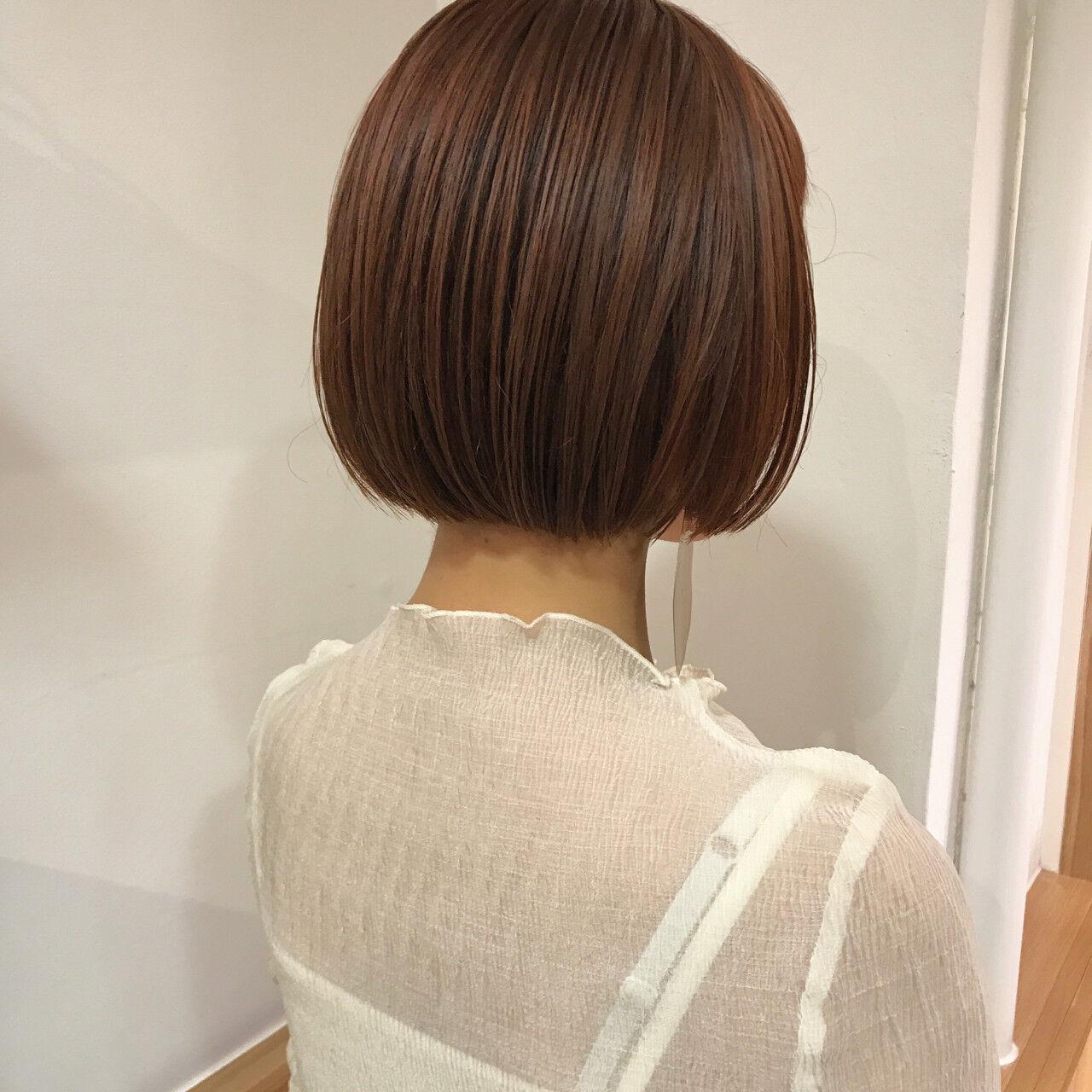 ナチュラル ボブ 透明感 秋ヘアスタイルや髪型の写真・画像