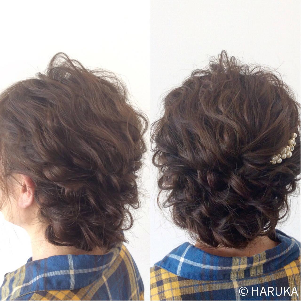 編み込み ヘアアレンジ ゆるふわ ストリートヘアスタイルや髪型の写真・画像