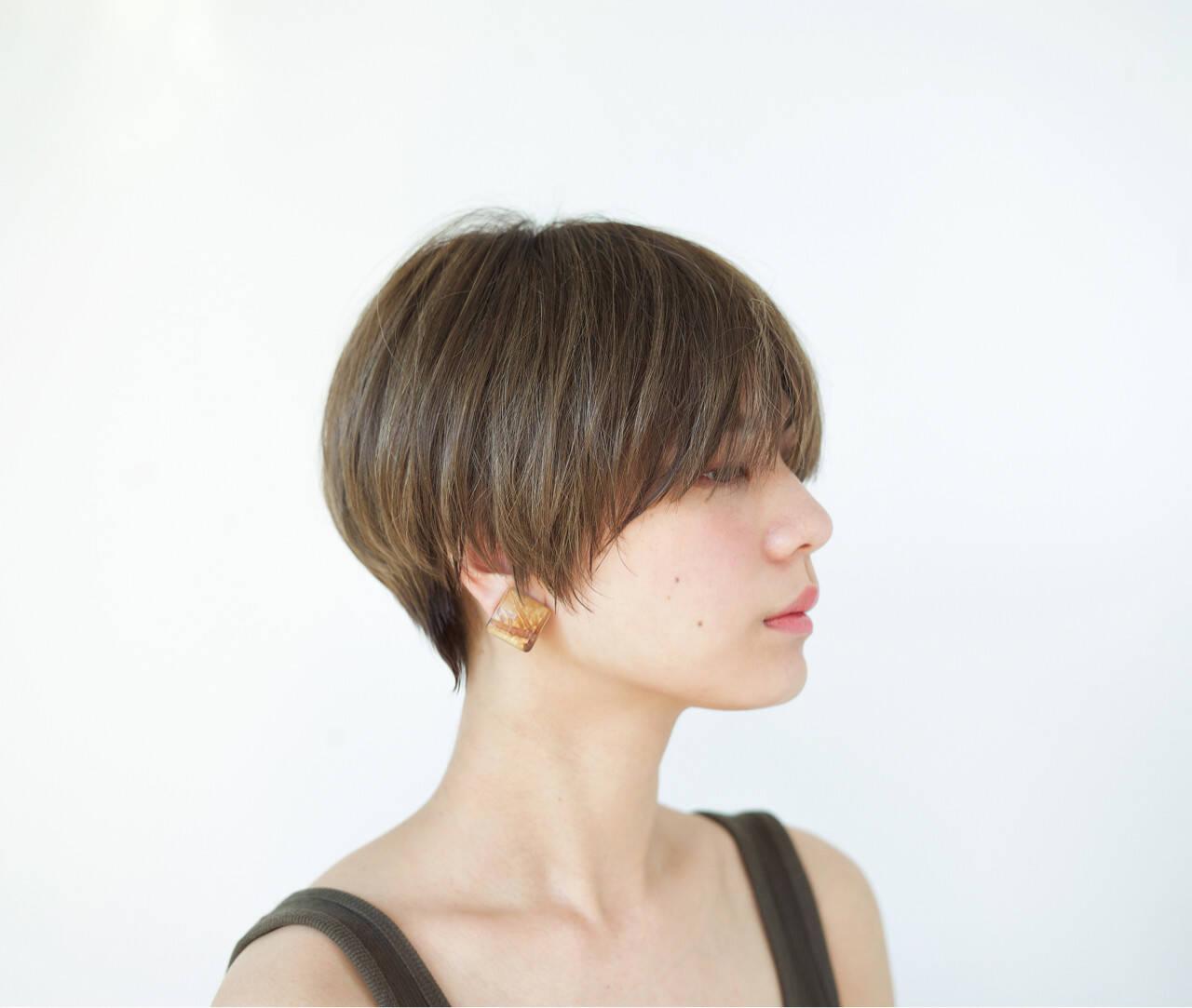 外国人風 ハイライト ショート 似合わせヘアスタイルや髪型の写真・画像