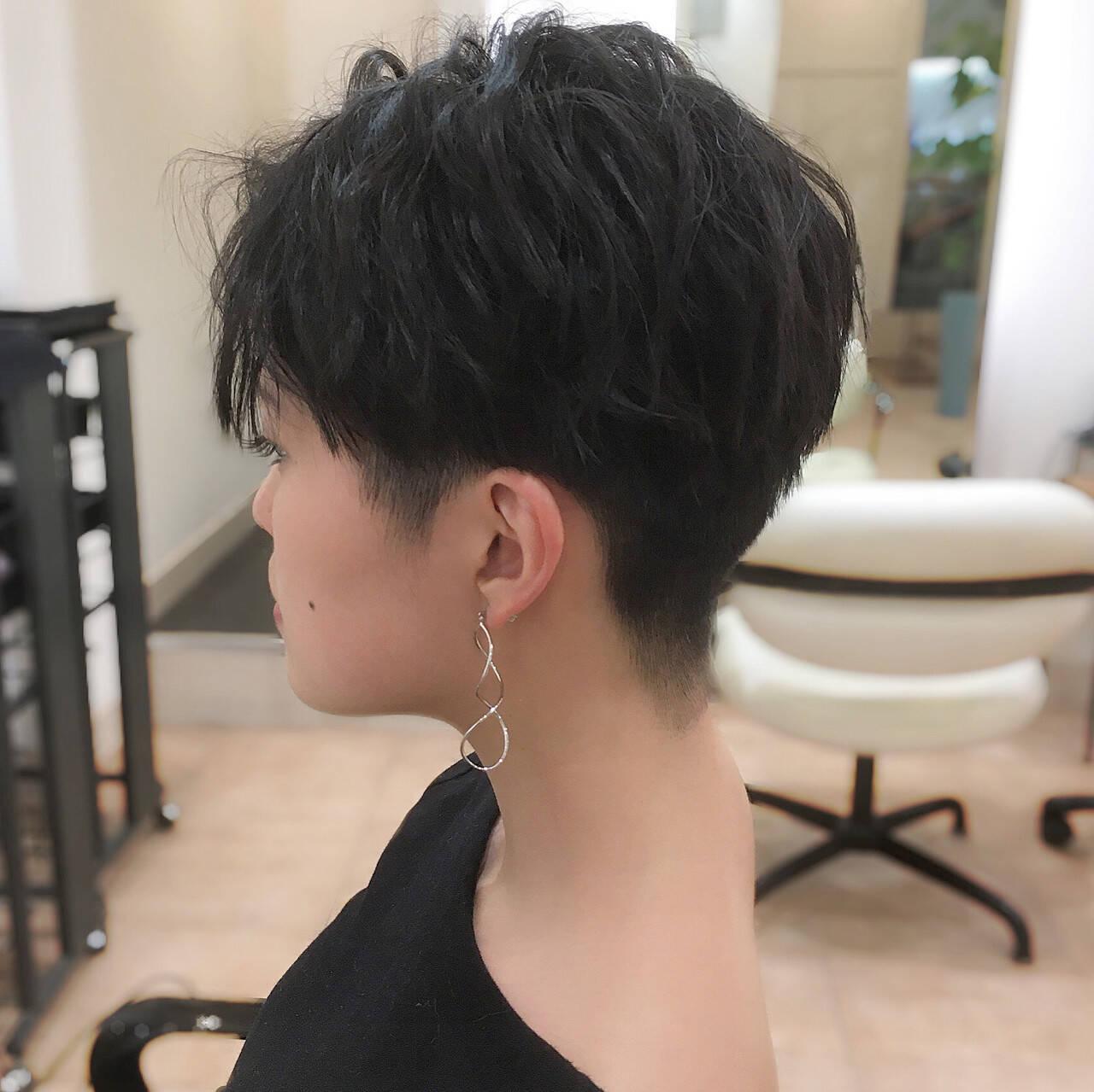 刈り上げ女子 ベリーショート ショートヘア ショートヘアスタイルや髪型の写真・画像