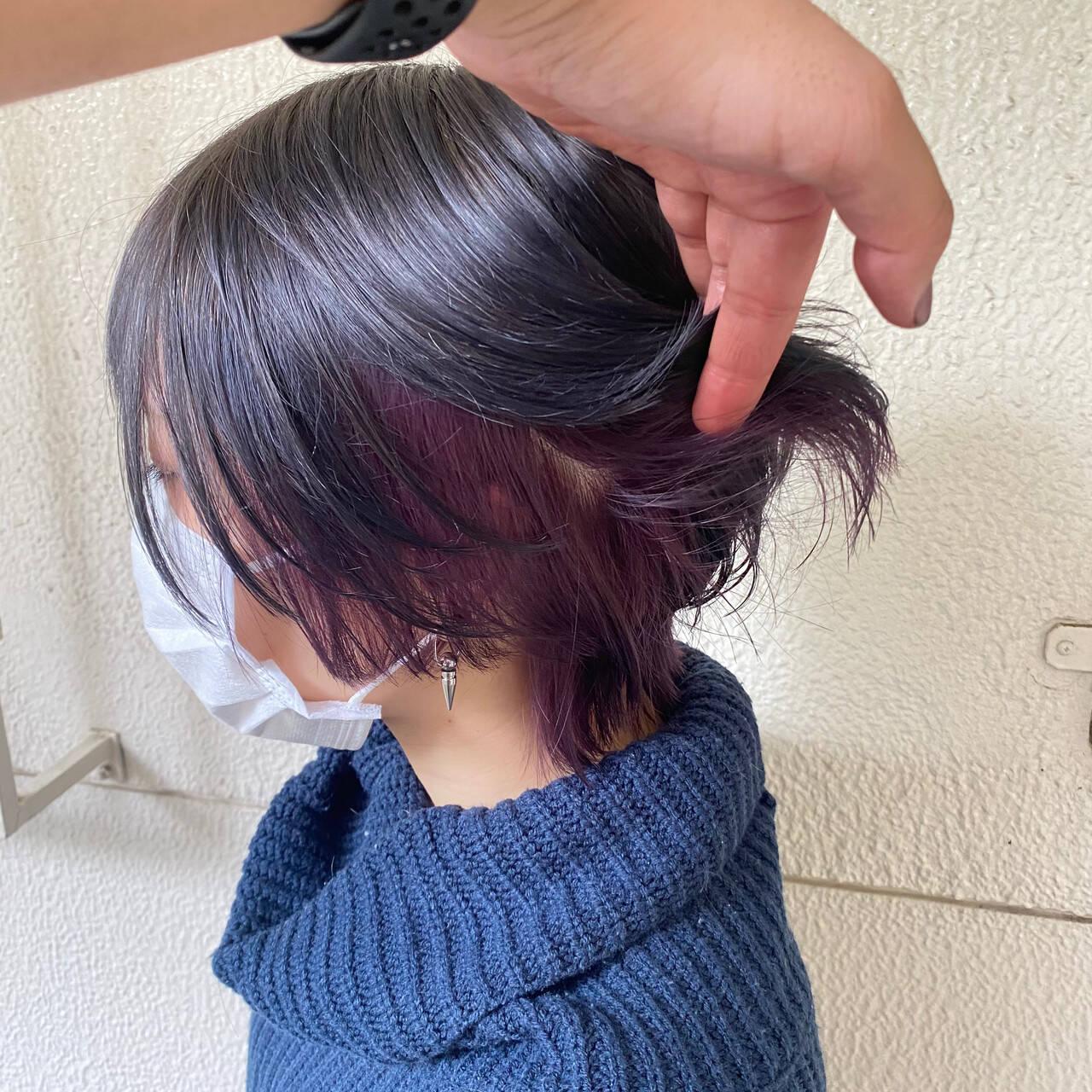 ウルフカット ストリート ショート ショートボブヘアスタイルや髪型の写真・画像