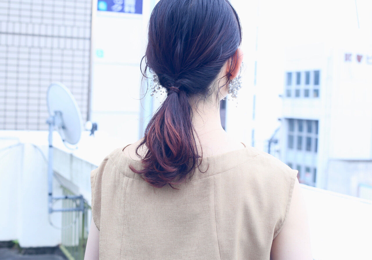 ショート ストレート フェミニン 簡単ヘアアレンジヘアスタイルや髪型の写真・画像