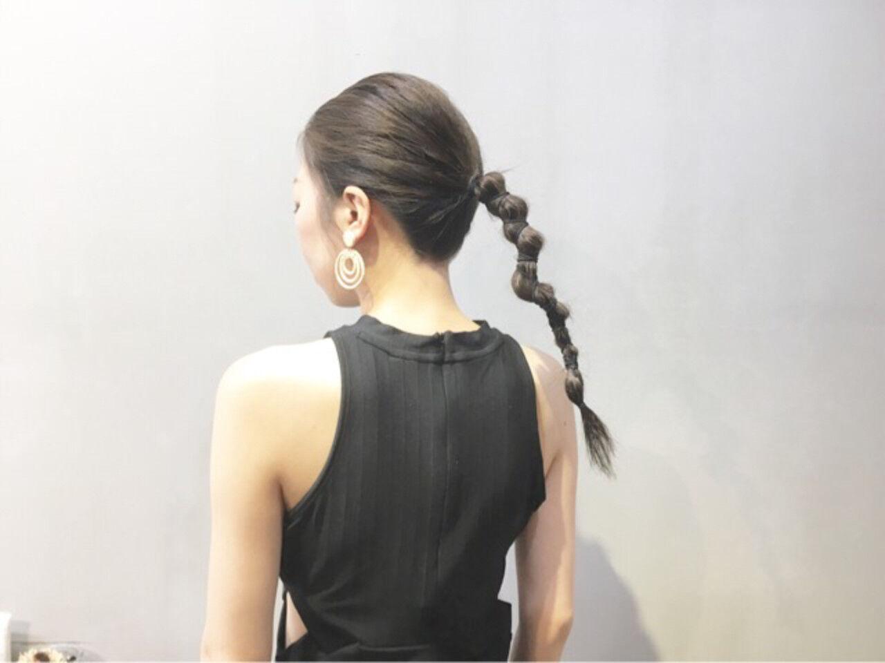 ヘアアクセ ヘアアレンジ デート ストリートヘアスタイルや髪型の写真・画像
