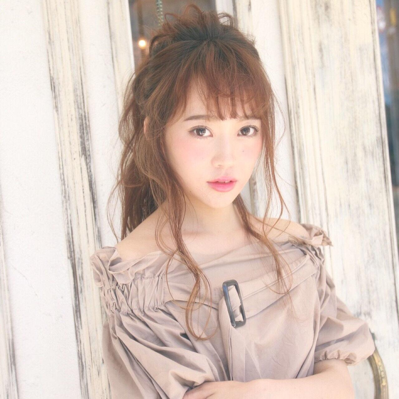 大人女子 大人かわいい エレガント ポニーテールヘアスタイルや髪型の写真・画像