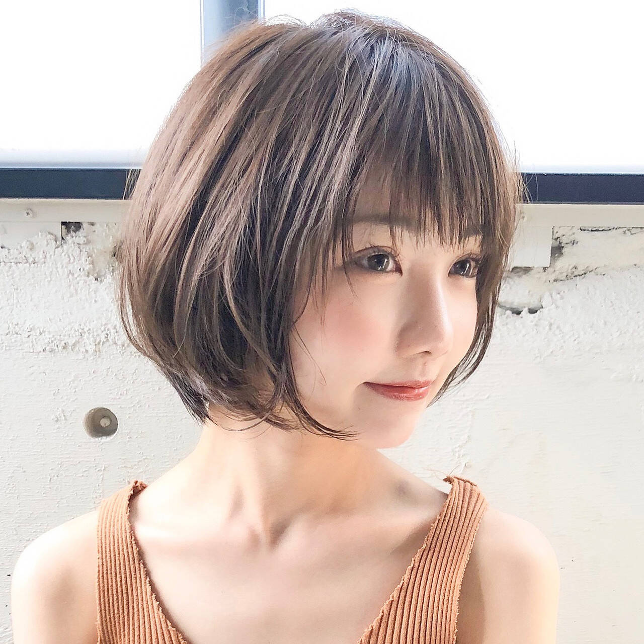 ヘアアレンジ ショートヘア 大人かわいい ナチュラルヘアスタイルや髪型の写真・画像