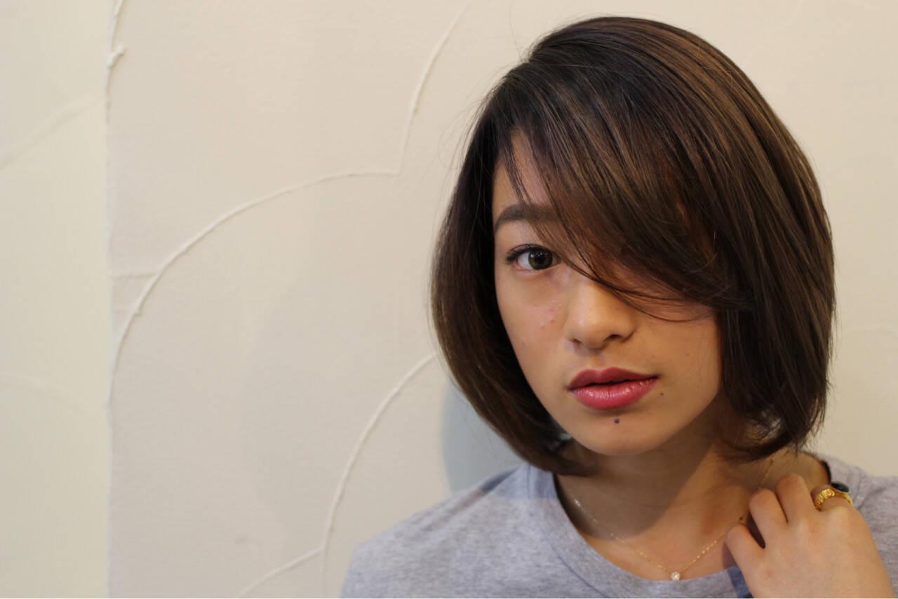 ナチュラル 大人女子 ボブ ミディアムヘアスタイルや髪型の写真・画像
