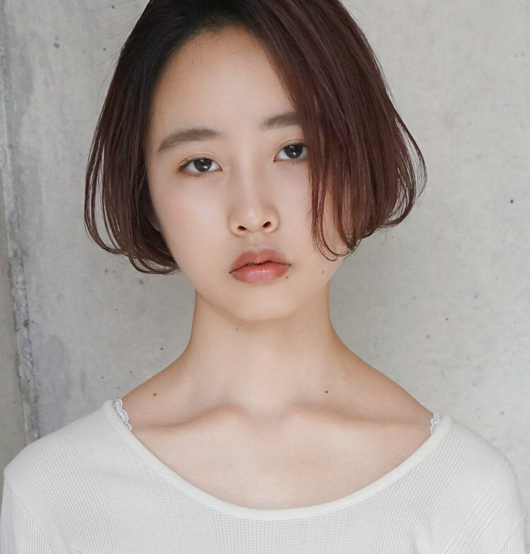 小顔 女子力 透明感 ナチュラルヘアスタイルや髪型の写真・画像