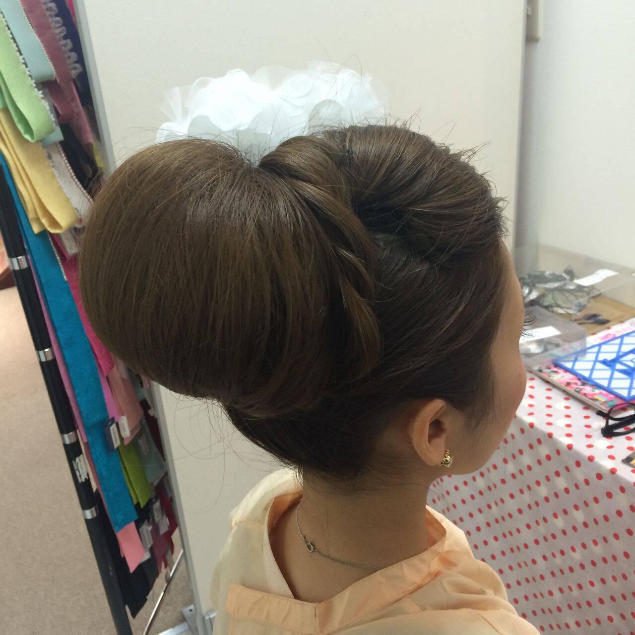 ヘアアレンジ ブライダル ロング 和装ヘアスタイルや髪型の写真・画像