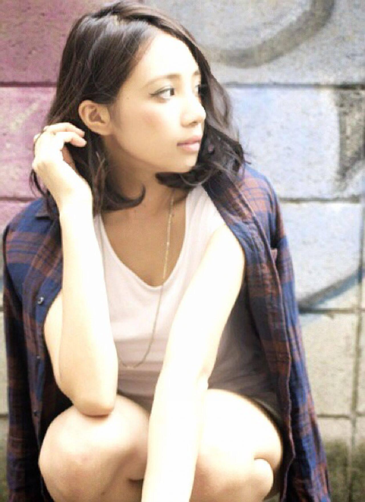 グラデーションカラー 外国人風 ストリート 秋ヘアスタイルや髪型の写真・画像
