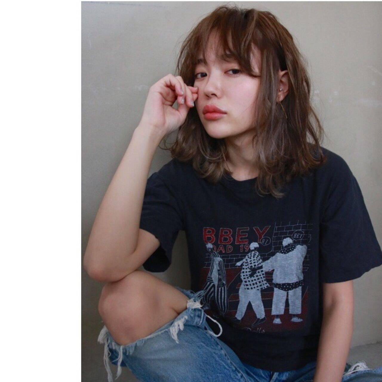 ミディアム ストリート パンクヘアスタイルや髪型の写真・画像