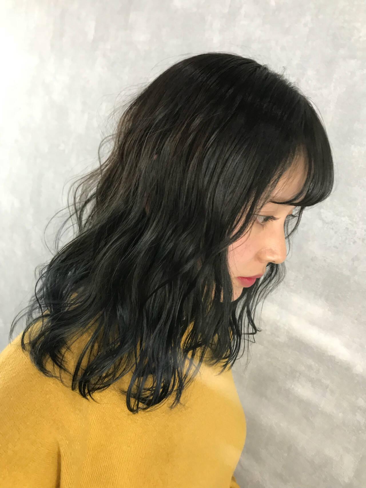 グラデーションカラー インナーカラー ハイライト ストリートヘアスタイルや髪型の写真・画像