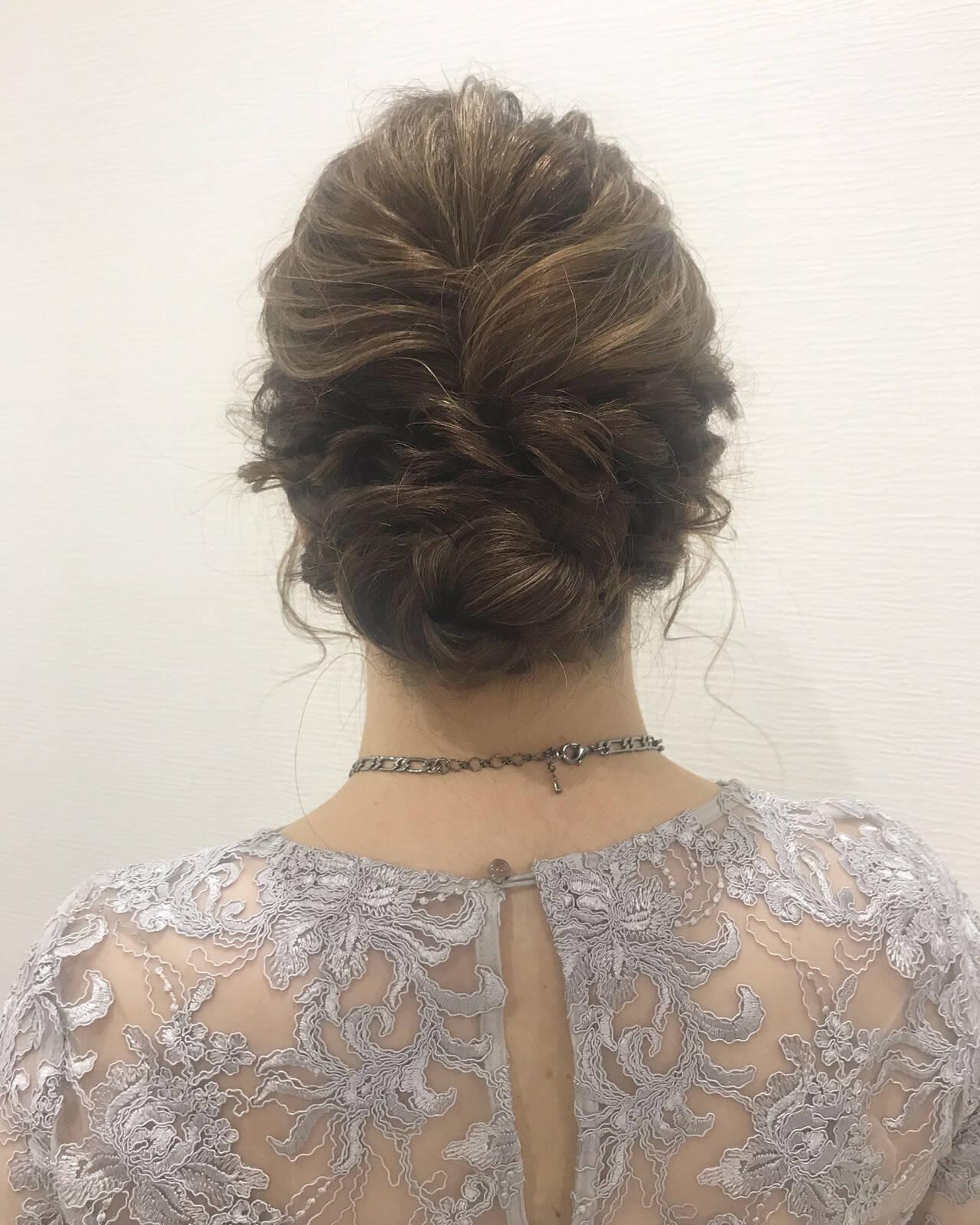 結婚式 ヘアアレンジ ヘアセット エレガントヘアスタイルや髪型の写真・画像