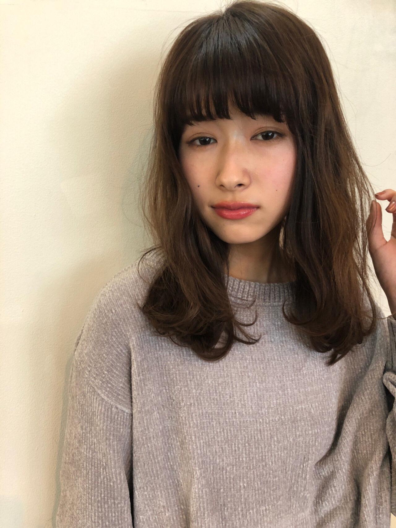 透明感 色気 前髪あり フェミニンヘアスタイルや髪型の写真・画像