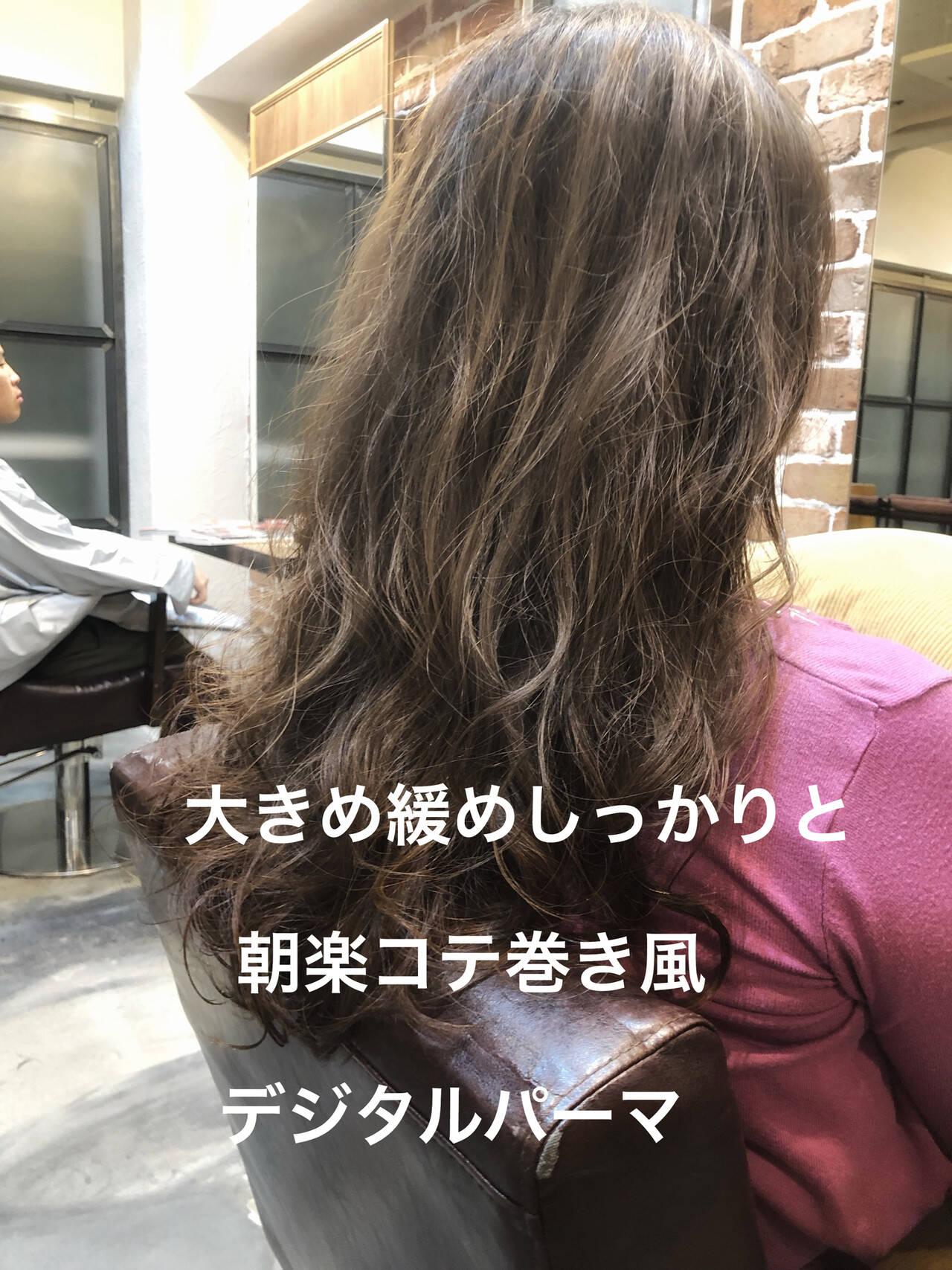 アンニュイほつれヘア ゆるふわパーマ ナチュラル パーマヘアスタイルや髪型の写真・画像