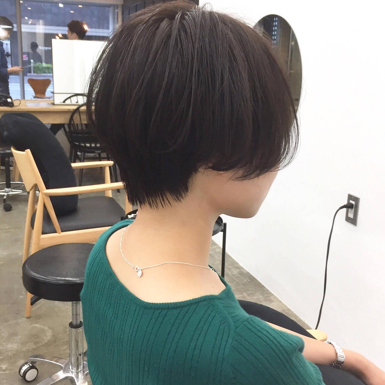 小顔ショート ショート ナチュラル ショートヘアヘアスタイルや髪型の写真・画像
