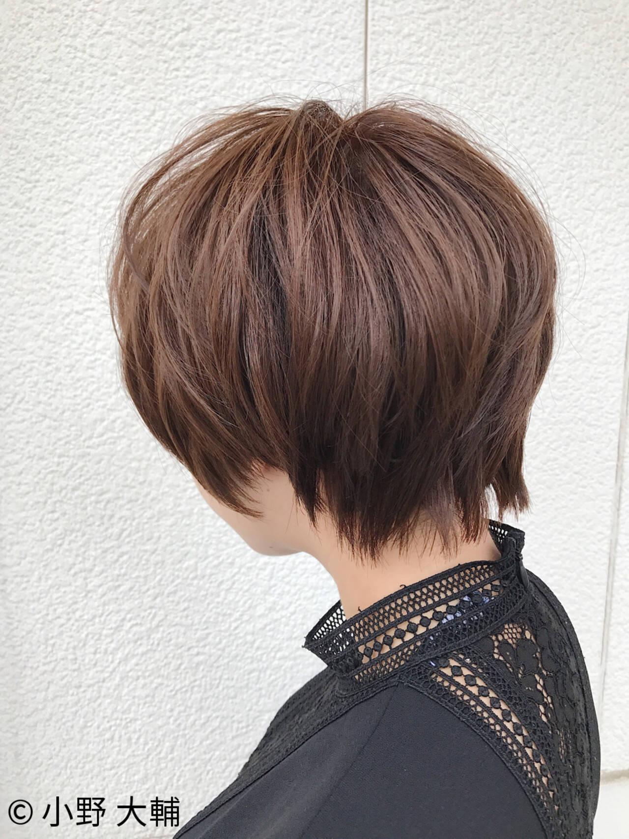 ショートバング 似合わせ ナチュラル マッシュヘアスタイルや髪型の写真・画像