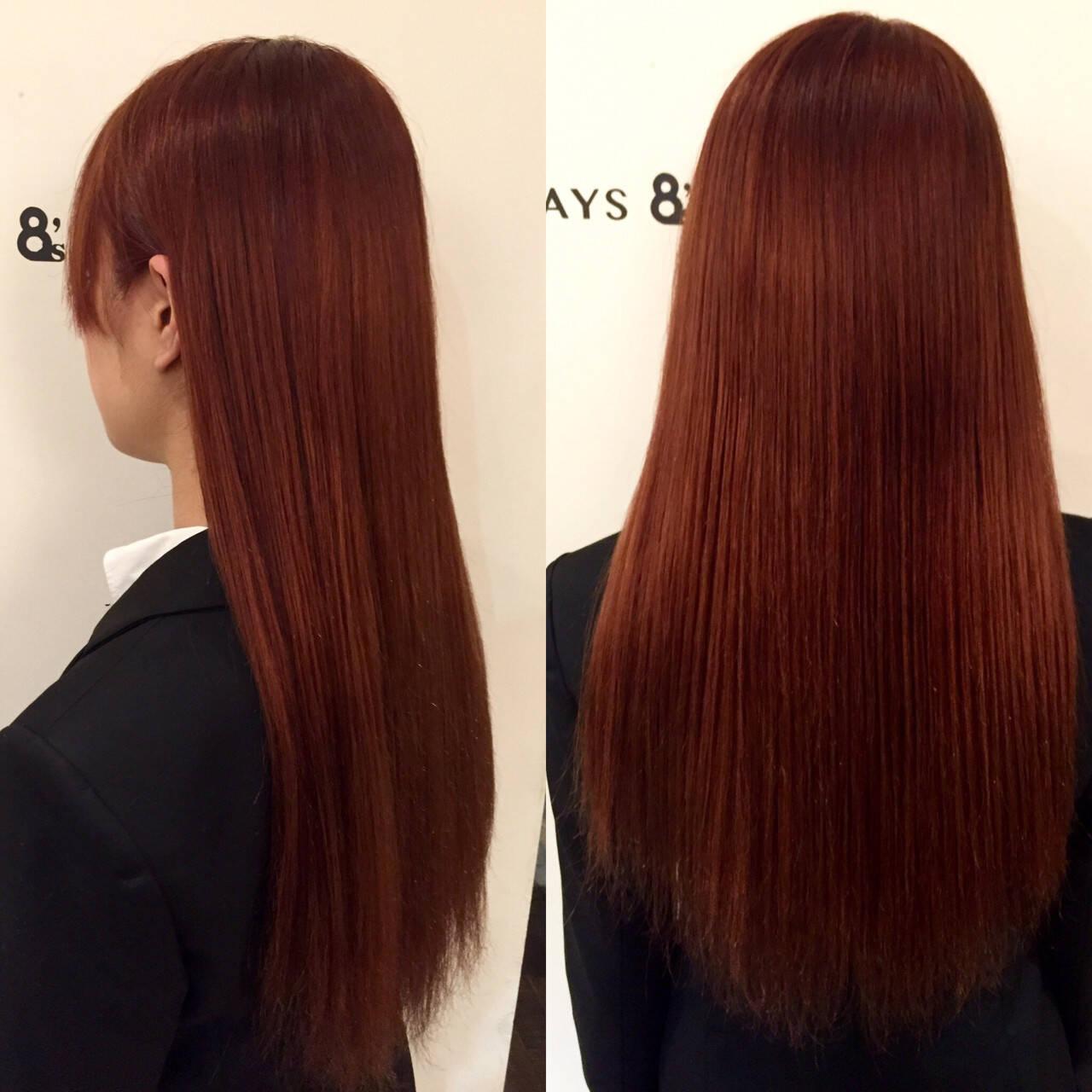 ロング ストリート 外国人風 ピンクアッシュヘアスタイルや髪型の写真・画像