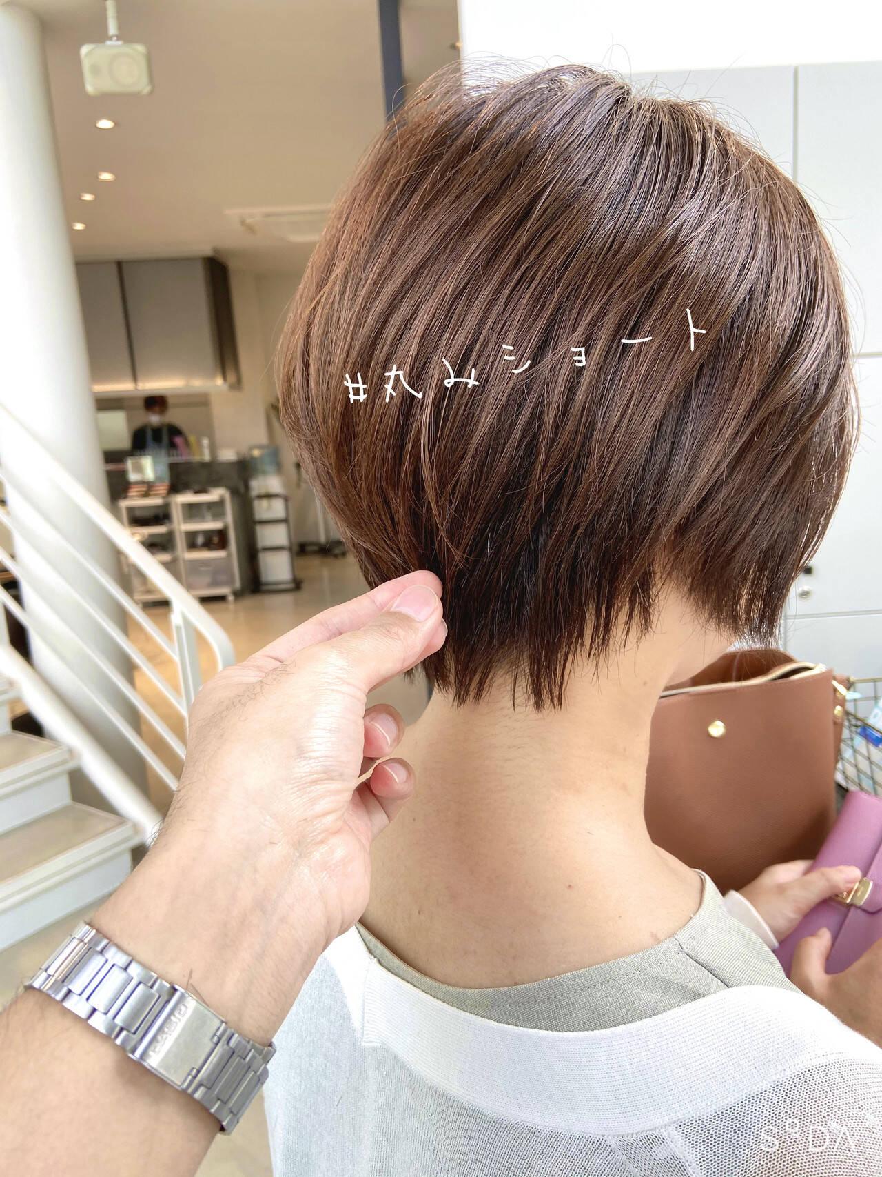ミニボブ ショート ベリーショート ショートボブヘアスタイルや髪型の写真・画像